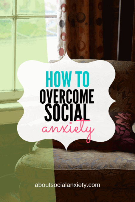 Chair beside window with text overlay - How to Overcome Social Anxiety