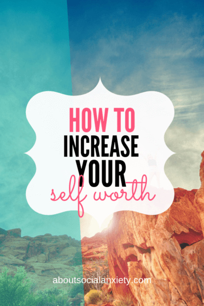 Red canyons with text overlay - How to Increase Your Self Worth