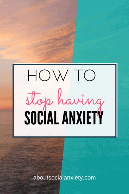 Ocean scene with text overlay - How to Stop Having Social Anxiety
