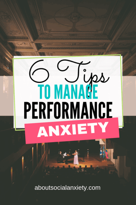 Stage with text overlay - 6 Tips to Manage Performance Anxiety