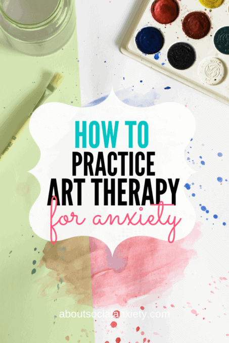 Paint splatter with text overlay - How to Practice Art Therapy for Anxiety
