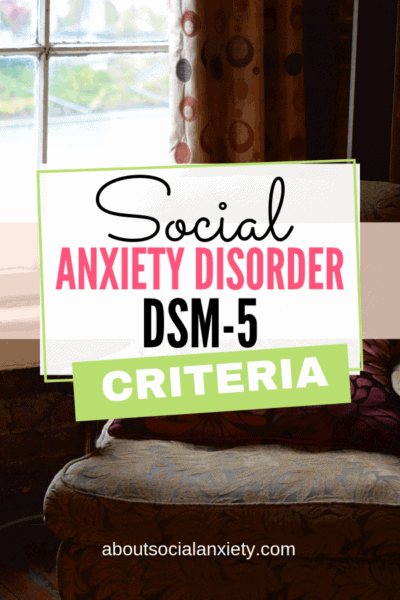 Chair by a window with text overlay - Social Anxiety Disorder DSM-5 Criteria