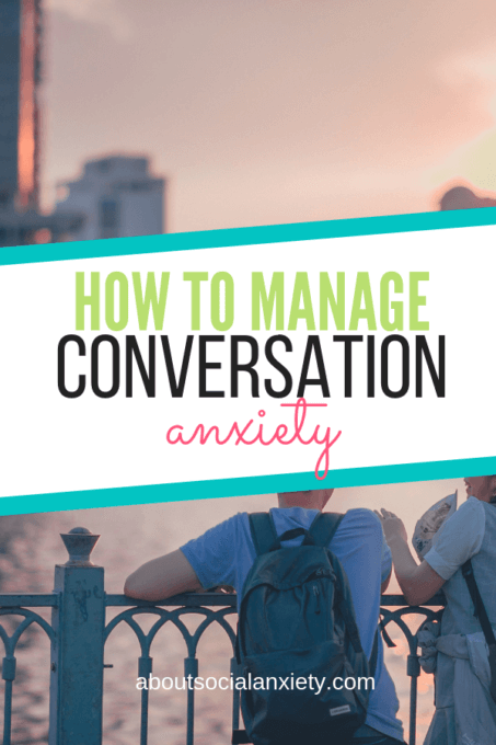 People talking with text overlay - How to Manage Conversation Anxiety