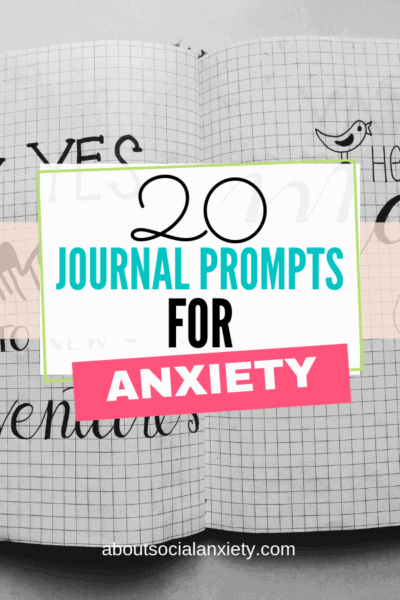 Bullet journal with text overlay - 20 Journal Prompts for Anxiety