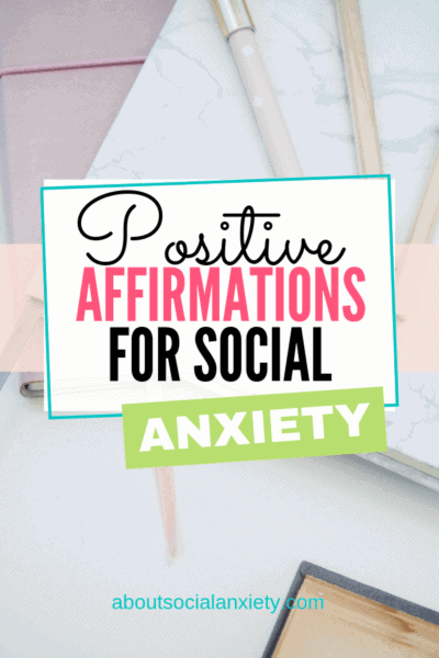 Desktop with text overlay - Positive Affirmations for Social Anxiety