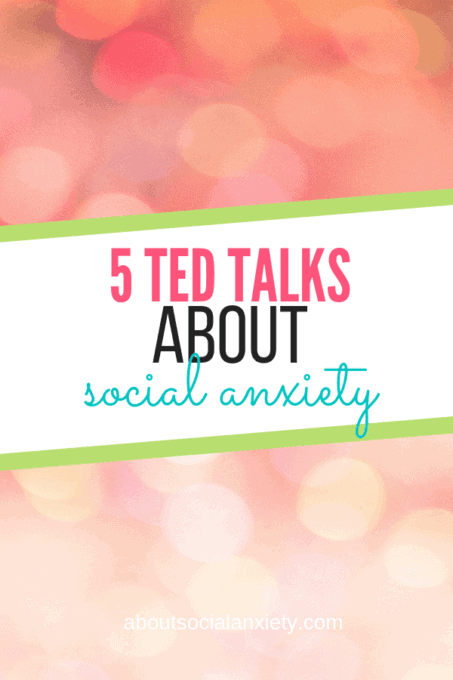 Pink lights with text overlay - 5 TED Talks About Social Anxiety