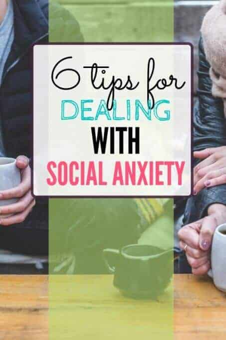 People talking with text overlay - 6 Tips for Dealing with Social Anxiety