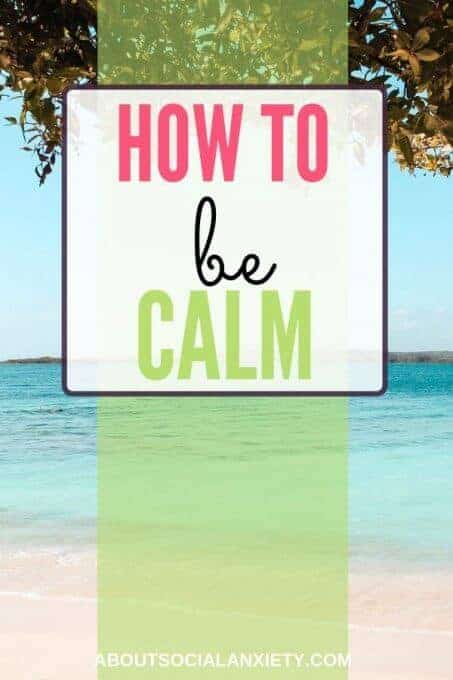 Ocean image with text overlay - How to Be Calm