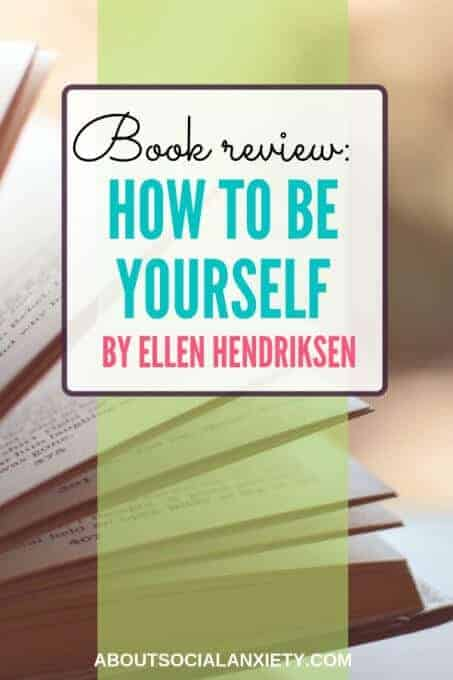 Open book with text overlay - Book Review: How to Be Yourself