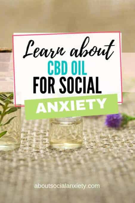 Containers with oil with text overlay - Learn About CBD Oil for Social Anxiety