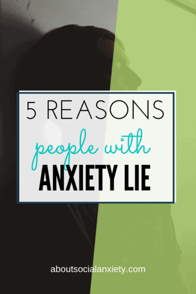 Dark shadow with text overlay - 5 Reasons People With Anxiety Lie