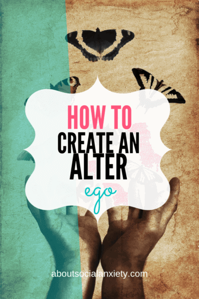 Hands releasing butterflies with text overlay - How to Create an Alter Ego