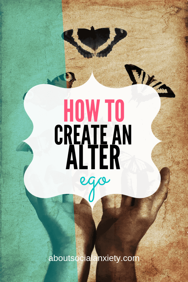Hands with butterflies and text overlay - How to Create an Alter Ego