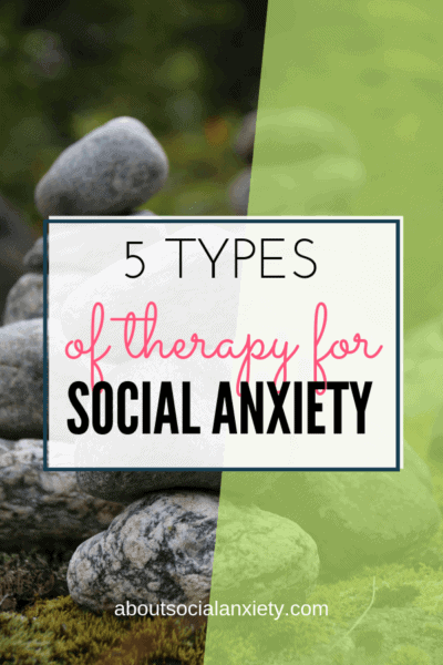 Nature scene with text overlay - 5 Types of Therapy for Social Anxiety