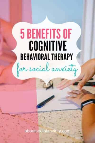 Therapy session with text overlay - 5 Benefits of Cognitive Behavioral Therapy for Social Anxiety