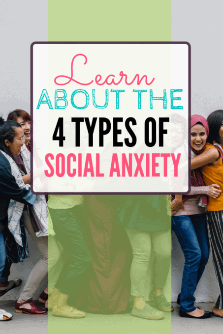 Group of people with text overlay - Learn About the 4 Types of Social Anxiety