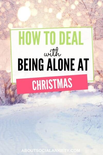 Snow scene with text overlay - How to deal with being alone at Christmas