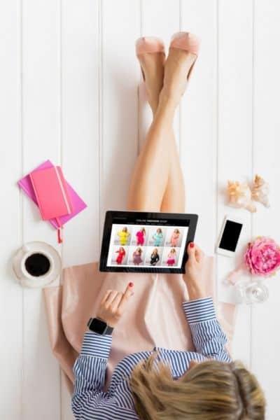 Woman shopping on Amazon Prime Day