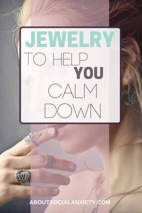 Woman with rings and text overlay - Jewelry to Help You Calm Down