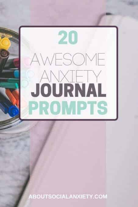 Journal with text overlay - 20 Awesome Anxiety Journal Prompts