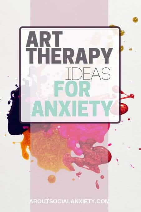 Paint splatter with text overlay - Art Therapy Ideas for Anxiety