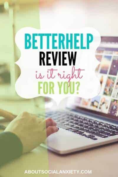 Woman on laptop with text overlay - Betterhelp Review: Is it Right for You?