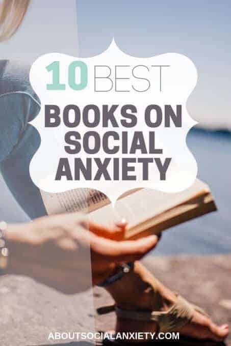 Person reading book with text overlay - 10 Best Books on Social Anxiety