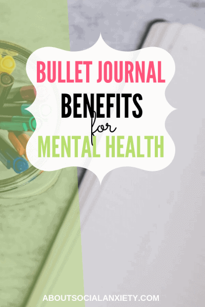 Bullet journal with text overlay - Bullet Journal Benefits for Mental Health