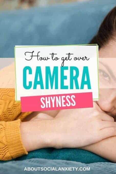 Shy woman with text overlay - How to Get Over Camera Shyness