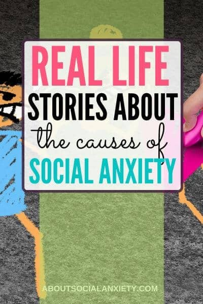 Abuse graphic with text overlay - Real Life Stories About the Causes of Social Anxiety