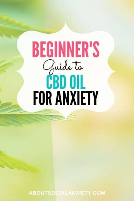 Leaves with text overlay - Beginner's Guide to CBD Oil for Anxiety