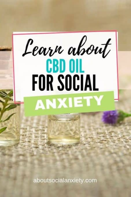 Oil with text overlay - Learn about CBD Oil for Social Anxiety