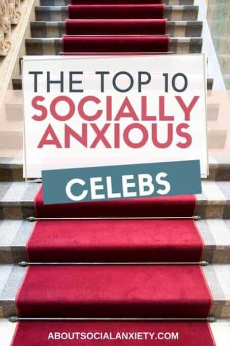 Red carpet with text overlay - The Top 10 Socially Anxious Celebrities