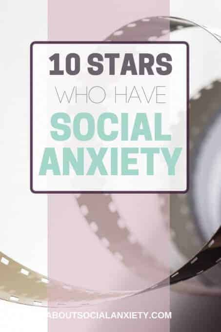 Film with text overlay - 10 Stars Who Have Social Anxiety