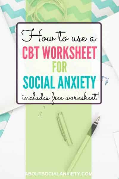 Desk setting with text overlay - How to Use a CBT Worksheet for Social Anxiety