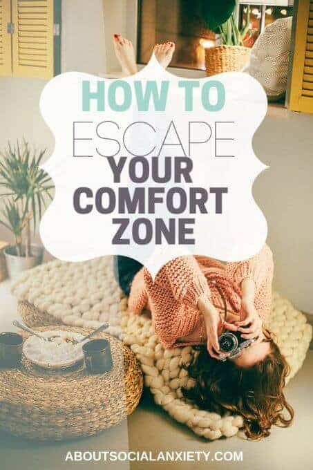Woman lying down with text overlay - How to Escape Your Comfort Zone