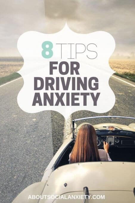 Woman driving with text overlay - 8 Tips for Driving Anxiety