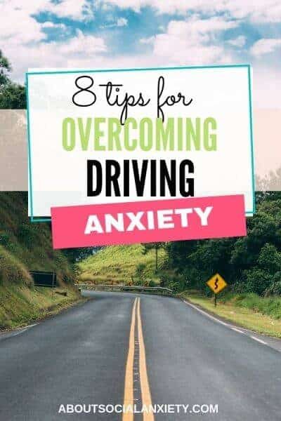 Roadway with text overlay - 8 Tips to Overcome Driving Anxiety