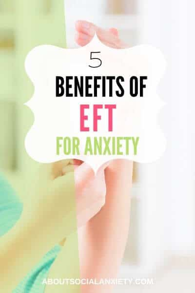 Hands with text overlay - 5 Benefits of EFT for anxiety