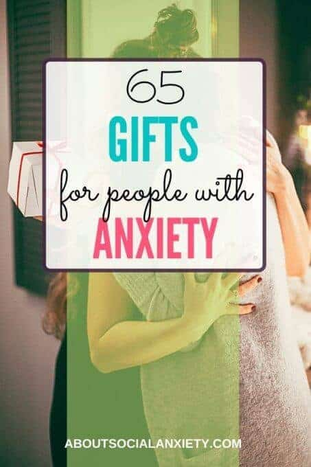 Women hugging with text overlay - 65 Gifts for People with Anxiety