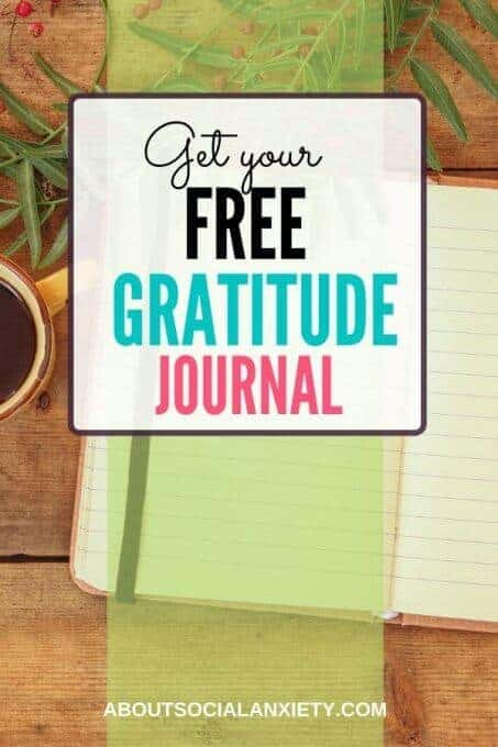 Journal with text overlay - Get Your Free Gratitude Journal