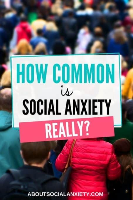 Crowd with text overlay - How Common Is Social Anxiety?