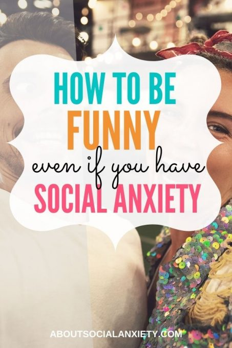 People talking with text overlay - How to Be Funny Even If You Have Social Anxiety