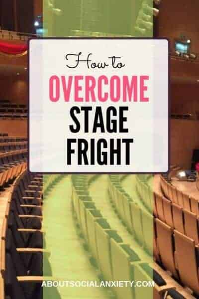Theatre with text overlay - How to Overcome Stage Fright
