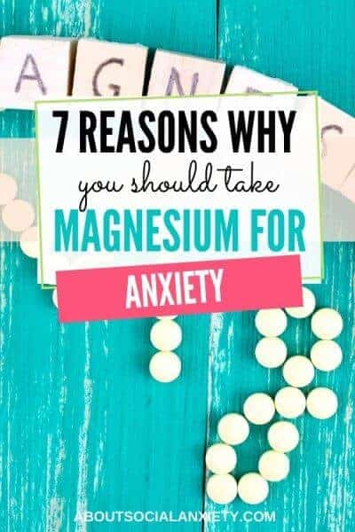 Pills with text overlay - 7 Reasons Why You Should Take Magnesium for Anxiety