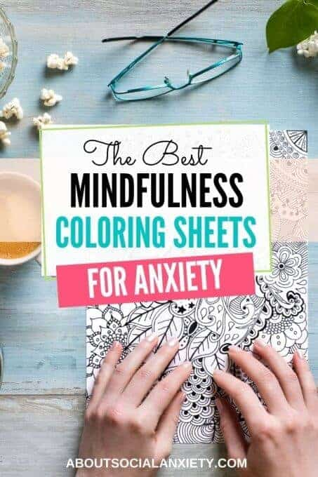 Coloring sheet with text overlay - The Best Mindfulness Coloring Sheets for Anxiety