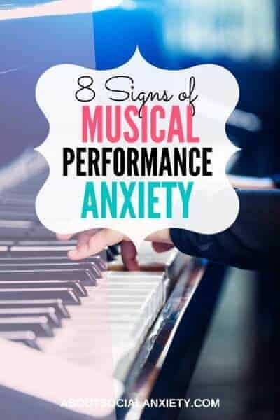 Piano with text overlay - 8 Signs of Musical Performance Anxiety