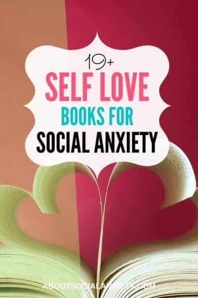 Heart-shaped pages with text overlay - 19+ Self Love Books for Social Anxiety