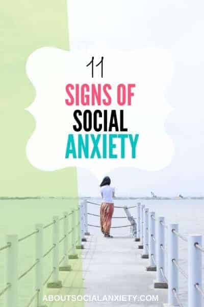 Woman on dock with text overlay - 11 Signs of Social Anxiety
