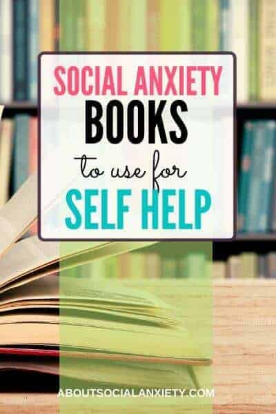 Books with text overlay - Social Anxiety Books to Use for Self Help